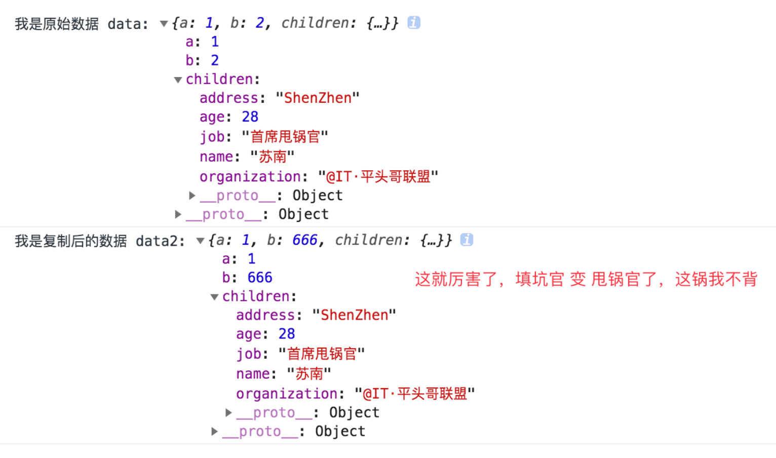 Note that this module has nothing to do with React. However, since this module is most commonly used with React, the docs will focus on how it can be used-首席填坑官∙苏南 分享,公众号:honeyBadger8,展示Object.assign拷贝问题